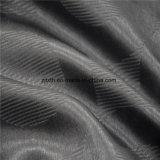 Poliéster negro telas ignífugas cortinas mayorista