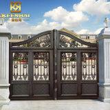 別荘の建築アルミニウム庭の塀のゲート