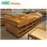 Двойные боковые деревянная подставка для фруктов и овощей