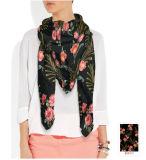 4人のカラーカスタム女性の絹のスカーフ