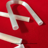 De uitstekende kwaliteit paste de Melkachtige Witte Buis van het Glas van het Kwarts voor het Verwarmen aan