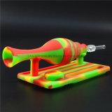 Wachs betupft Dampf-Honig-Stroh-Nektar-Sammler KLEKS Rohr mit Titannagel das 5 ml-Silikon-Glas