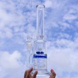 工場卸し売り新しいデザイン回転ギヤが付いているガラス配水管の煙る管