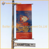 Улица Поляк рекламируя стойку флага гибкого трубопровода знамени