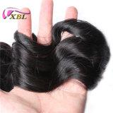 良質の加工されていないインドのRemyの毛の自然な未加工バージンの人間の毛髪