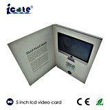 Cartão video de papel do LCD convite da impressão colorida 5.0 de Cmyk do '' para anunciar a promoção