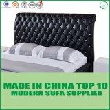 Klassisches antike Möbel-weiches doppeltes ledernes einzelnes Bett