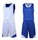 新しいデザイン可逆カスタマイズされたチームバスケットボールのジャージ