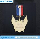 Souvenir fait sur commande de médaillon d'honneur de récompense d'insigne de médaille de métiers en métal