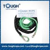 La couleur orange 6.6mm*15m'UHMWPE Cordon de corde de treuil avec crochet Thimble Manchon protecteur Endlock comme un ensemble complet pour Offroad 4X4 (Tough treuil corde)