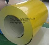 De Rollen PPGI, het kleur-Met een laag bedekte Staal van het Dakwerk van de Rollen Ral9002 van het Staal plooiden de Gegalvaniseerde Rol van het Ijzer Sheet/PPGI