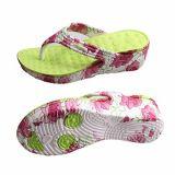 Мода Custom Print Flipflops высокого каблука женщин леди