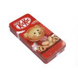 [رد كلور] مستطيلة [هيجد] غطاء شوكولاطة قصدير صندوق