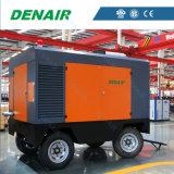 高圧ディーゼル移動式ねじ空気圧縮機ポンプ