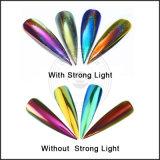 Порошок пигмента яркия блеска ногтя хамелеона радуги единорога крома лазера голографический