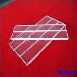 Strato di vetro di quarzo fuso di rettangolo della radura di resistenza termica