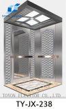 Лифт пассажира Toyon с нержавеющей сталью вытравливания волосяного покрова