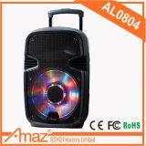 Temeisheng plastique bidirectionnel actif de 8 de pouce du DJ ABS de haut-parleur avec le chariot 800 watts