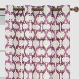Cortina rosada y blanca del telar jacquar del estilo de la muestra