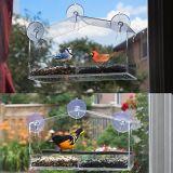 Casa de acrílico grande del pájaro de la ventana del plexiglás para el Amazonas