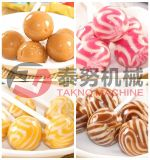 Novo tipo Lollipop dos doces duros do grupo da esfera que faz a linha