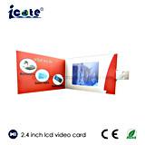 Qualität 2.4 Zoll LCD-videobroschüre mit USB für Bussiness