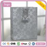 Schwarze Muster-silbernes Grau-Kleidung bereift Spielzeug-Geschenk-Papiertüten