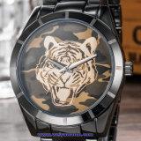 Kundenspezifische Firmenzeichen-Schweizer Quarz-Uhr-Form-Armbanduhren für Paare (WY-17017E)
