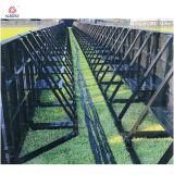 Il nero o barriera resistente di alluminio di controllo di folla del nastro