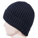 メンズだぶだぶの冬OEMの帽子のカスタム無能の帽子の帽子の平野によって平手打ちされる編む頭骨の帽子