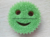 다채로운 미소 마스크 모양 폴리에스테 갯솜 수세미