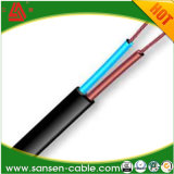 300/300V H03VVH2-F 2x0.75mm2 Piso PVC flexible de alambre y cable de alimentación eléctrica