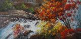 Ручной работы лесного и водного ландшафт картины маслом на холсте