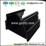 Il trasferimento della venatura del legno di alta qualità si è sporto dissipatore di calore di alluminio