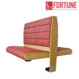 木製フレーム(FOH-XM28-468)が付いているレストランのためのブースのソファーを食事する完全なパッケージの解決