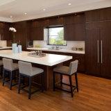 De Prima da cozinha da mobília da madeira contínua gabinete 2018 de cozinha americano novo