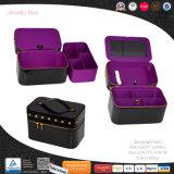 Elegante cuero paquete personalizado de gama alta de joyas Joyero (8746)