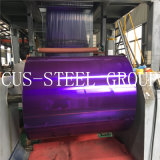Rodillo de aluminio del color del oro/bobina de aluminio reflexiva solar para el colector solar