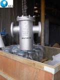 A extremidade flangeada 40 malhas de aço fundido Wcb Tampa Aparafusada filtrador de cesto