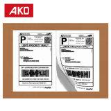 8X5.5 (203mm * 140mm) Papel térmico de bajo coste 2 etiquetas por hoja de etiquetas de envío
