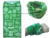 Sjaal van de Buis van de Hals van de Polyester van het Af:drukken van de fabriek de Opbrengst Aangepaste Groene