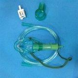 Verde simple de la máscara de oxígeno del Multi-Respiradero de los materiales consumibles médicos/transparente disponibles en diversa talla