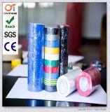 Nastro elettrico dell'isolamento del PVC della striscia di verde giallo con il prezzo basso (0.13mmx19mmx20m)