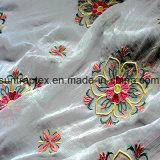 Il tessuto chiffon del Crepe ricamato poliestere di alta qualità, increspa il tessuto chiffon per il vestito