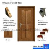 Porte coupe-feu de bois de style moderne, porte coupe-feu de bois avec Hot Sale