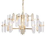 Postmodern Kroonluchter van het Kristal van het Metaal van de Luxe van de Eetkamer van de Woonkamer Moderne Villa Aangegane