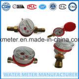 Dn20 type rotatoire mètre d'eau en laiton de corps de Simple-Gicleur