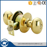Fechamento cilíndrico de bronze interior do botão de porta do aço inoxidável