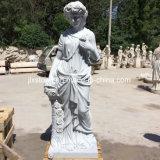 Het Marmer van het Zinkwit sneed Godness van de Vier Standbeelden van Seizoenen