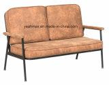 ファブリックおよび上塗を施してある金属フレームが付いているホームのための簡単なソファーセット